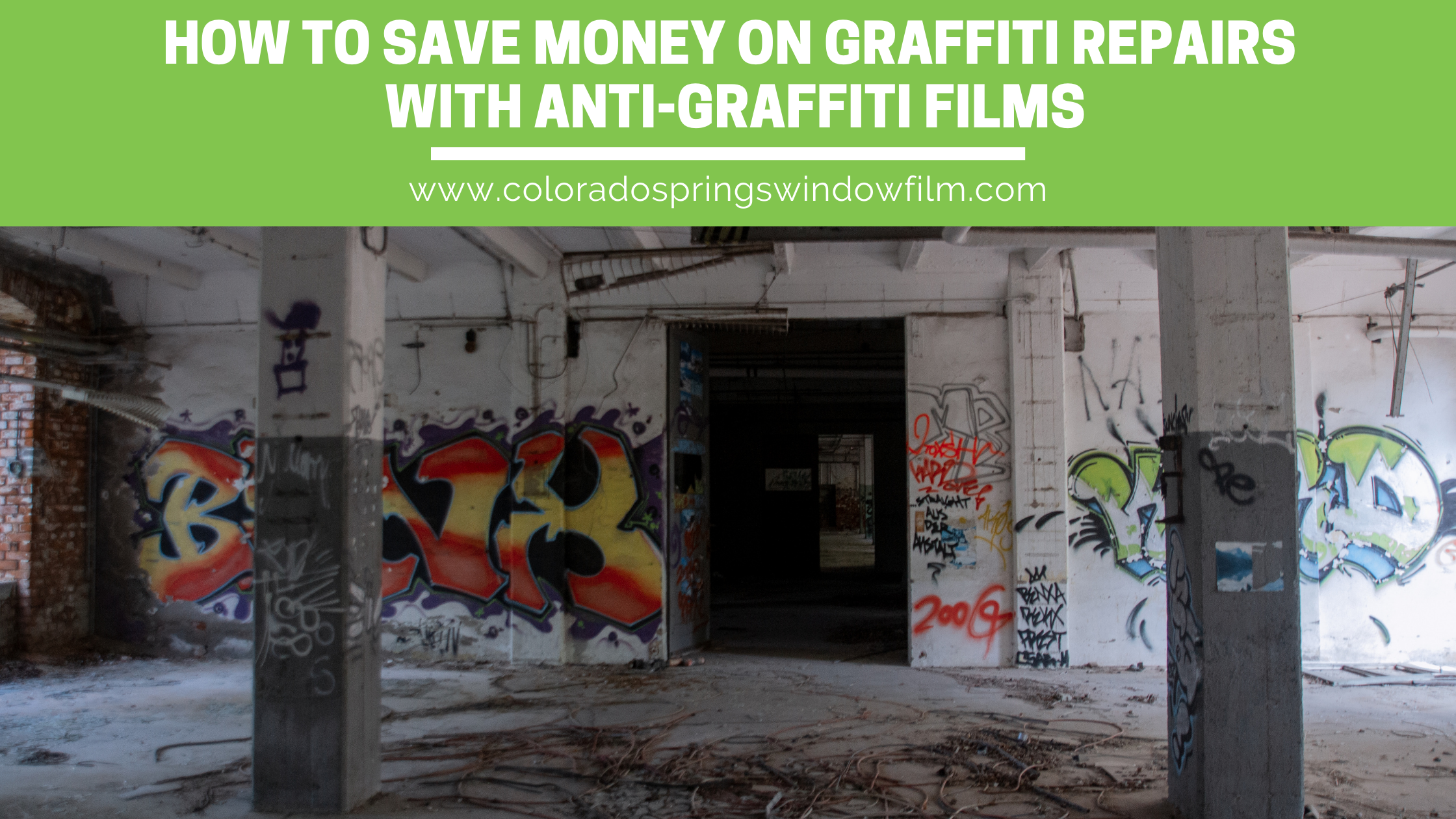 How Colorado Springs Businesses Can Save Money With Anti-Graffiti Film